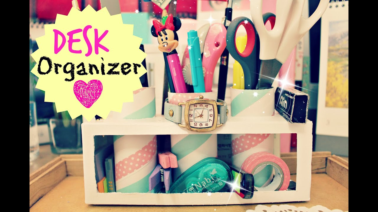 Diy Crafts A Desk Organizer Pencil Holder Portalápiz Milk Cartons Tp Rolls You