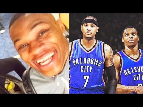 Russell Westbrook Reacts To Carmelo Anthony Being Traded To OKC Thunder