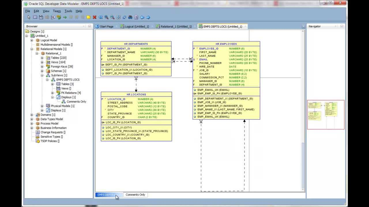 small resolution of creating multiple displays of your diagrams in oracle sql developer data modeler youtube