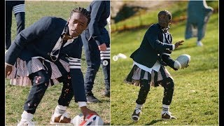 Can't Believe Lil Uzi Vert Played Football In A Skirt LOL