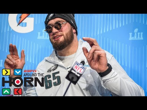 Lane Johnson says Patriots 'fear-based' and not 'a lot of fun' to play on | Around the Horn | ESPN