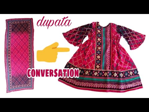 Old Dupata Convertion Into Gathered Baby Tunic Top