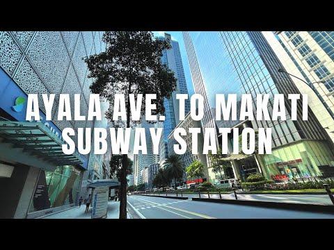 [4K] Makati Ayala Avenue to Makati Subway Station Construction Site Walk | Philippines April 2021