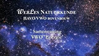 VWO6 Samenvatting Energie