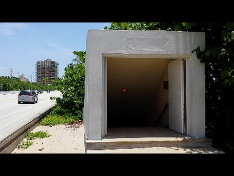Walking in Tunnel under A1A to Hugh Taylor Birch Park, Ft Lauderdale