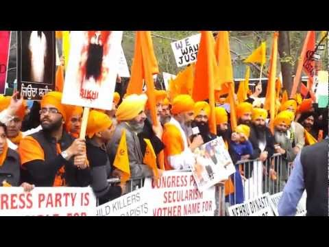 Sikhs protesting at the United Nations in New York last week (source: in.com)