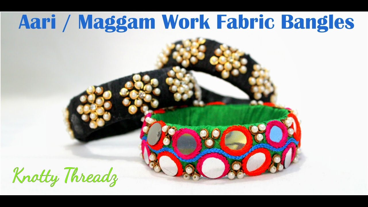 How to make Raw Silk Fabric Bangles at Home | Tutorial !! - YouTube