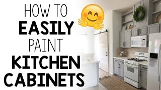 How To Easily Paint Kitchen Cabinets!