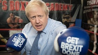 Boris Johnson tackles crime in the boxing ring