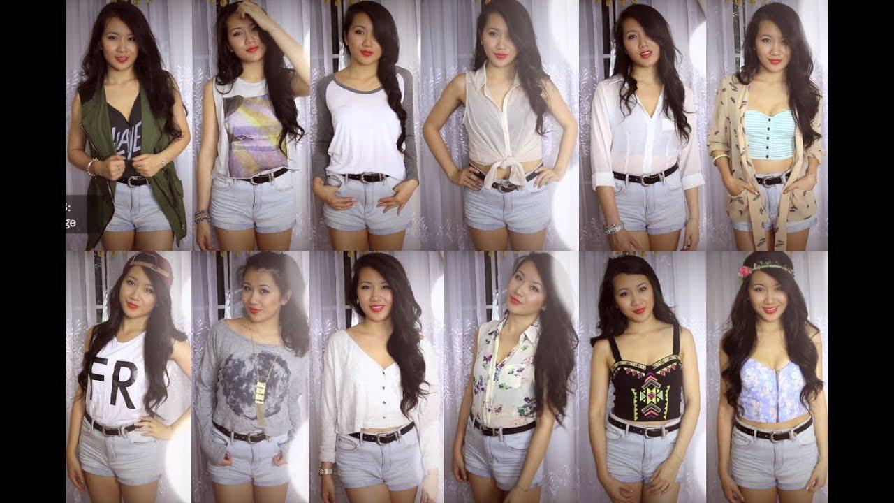 Styling: High-Waist Denim Shorts - YouTube