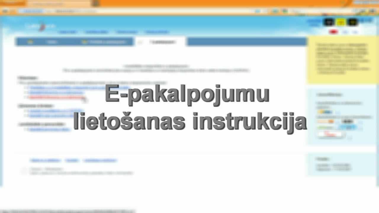 """E-pakalpojums """"Mani dati VDEĀVK"""" - YouTube"""