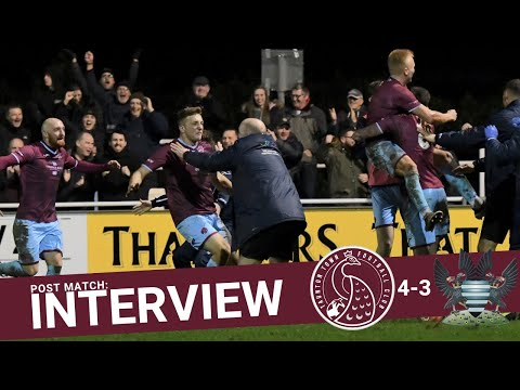 Rob Dray Post Match Interview: Taunton Town 4-3 Salisbury