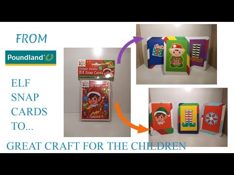 🎅 POUNDLAND CRAFT UK'S DOLLAR TREE: EASY WHIMSICAL CHILDREN CHRISTMAS ELF CARDS DIY