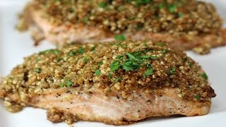 SUPER EASY Almond Crusted Salmon!!!