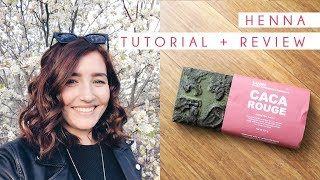 Lush Henna Caca Rouge Tutorial Review | Brown To Red Hair