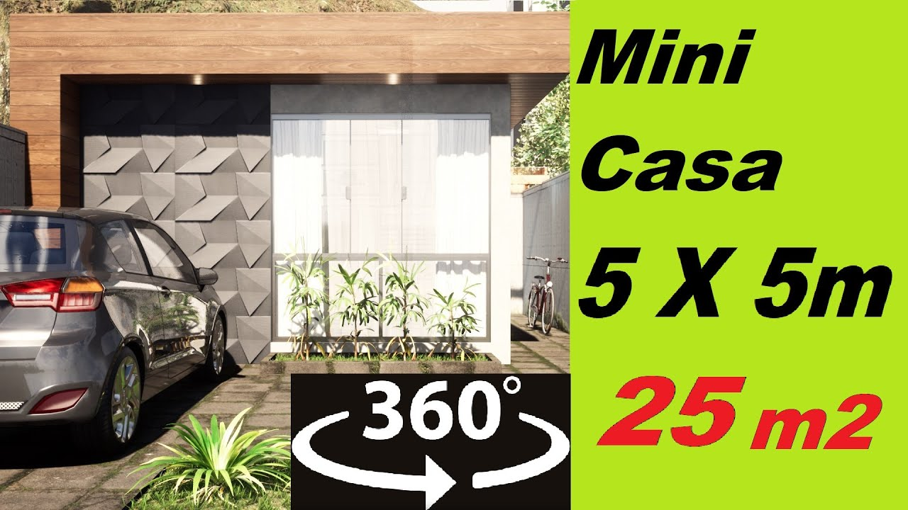 CASA PEQUENA DE 5 x 5 METROS - TÉRREA VR 360 video 4k