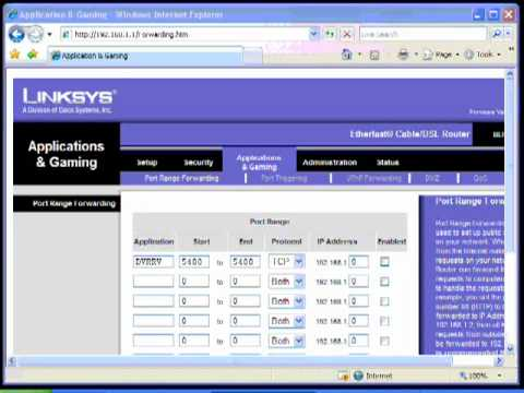 TUTORIAL: How To Port Forward Using A Linksys Router