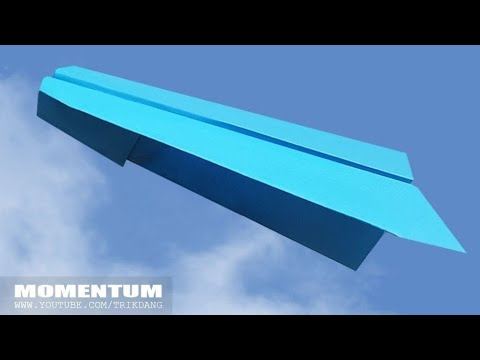 BEST LONG DISTANCE paper plane in 2018 - How to make a Paper Airplane that Flies Far | Momentum