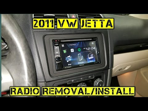 How to remove/install a radio 2011 Volkswagen jetta - YouTube