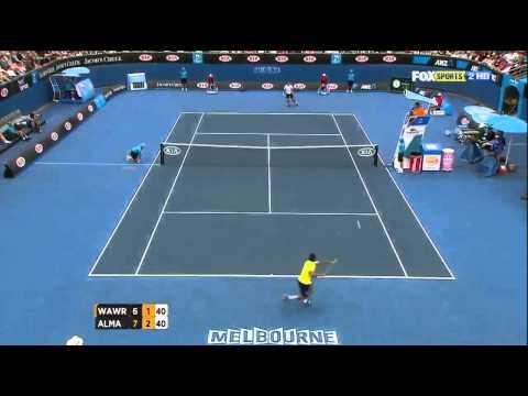 Almagro Vs Wawrinka AO 2012 HD Highlights