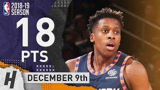Frank Ntilikina Full Highlights Knicks vs Hornets 2018.12.09 - 18 Pts!