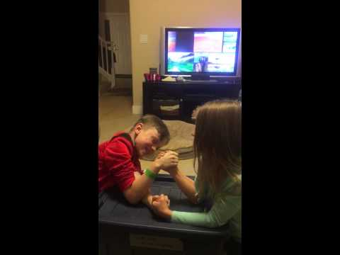 Little Brother and Sister wrestling Pt 2 from YouTube · Duration:  59 seconds