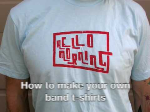 How to make your own band t shirt by hello morning diy t for How to print your own shirt