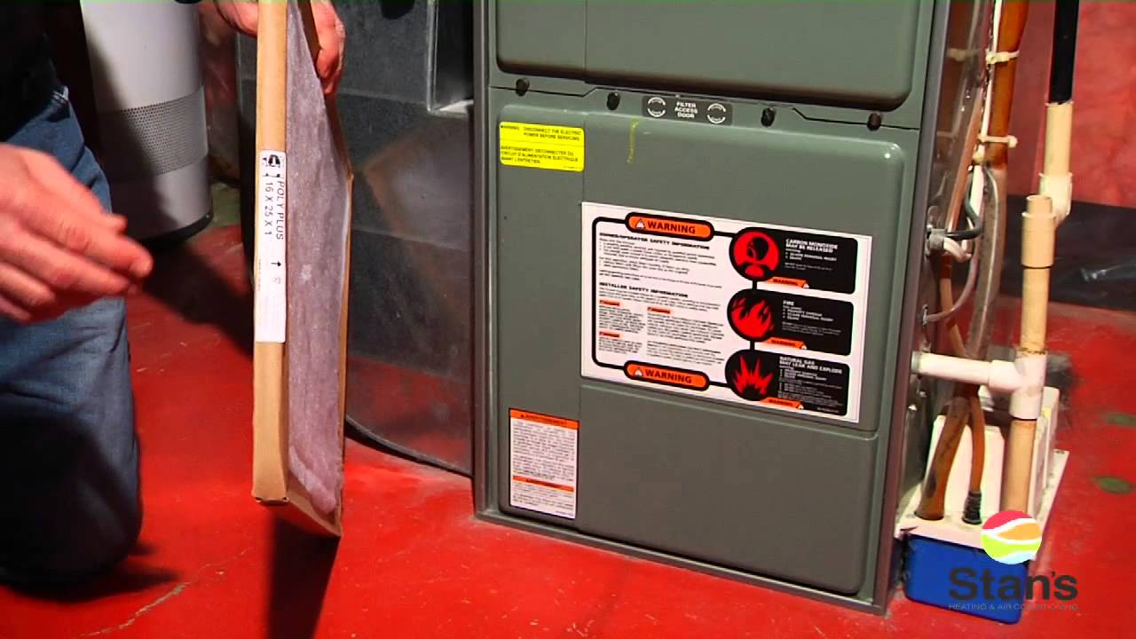How To Change A Furnace Filter Stan S Heating And Air Conditioning You