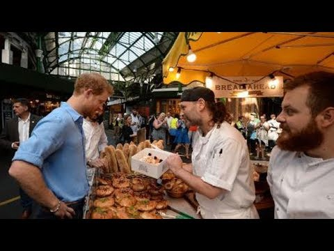 Prince Harry visits Borough Market after terror attack