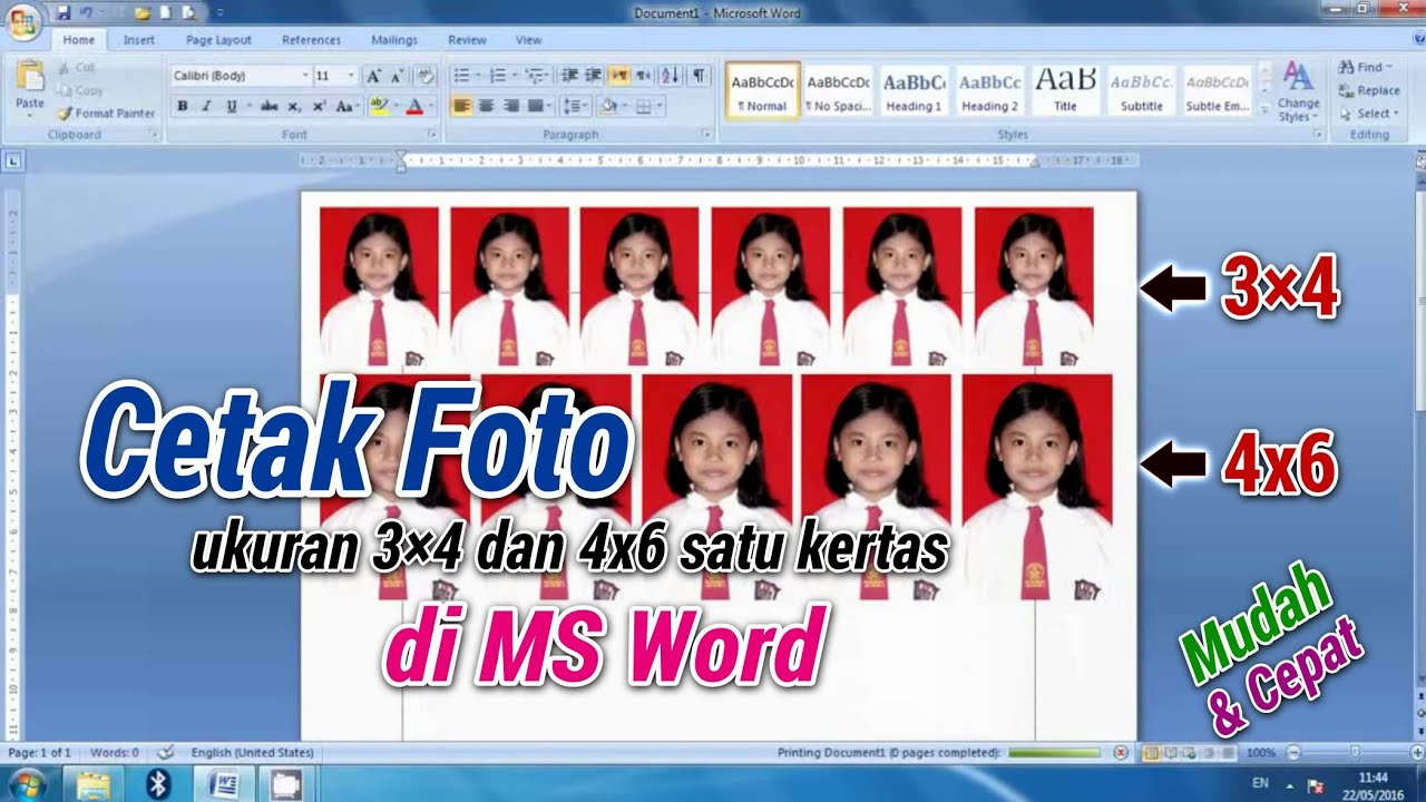 Diy Cara Cetak Photo Ukuran 3x4 Dan 4x6how To Print Photo In