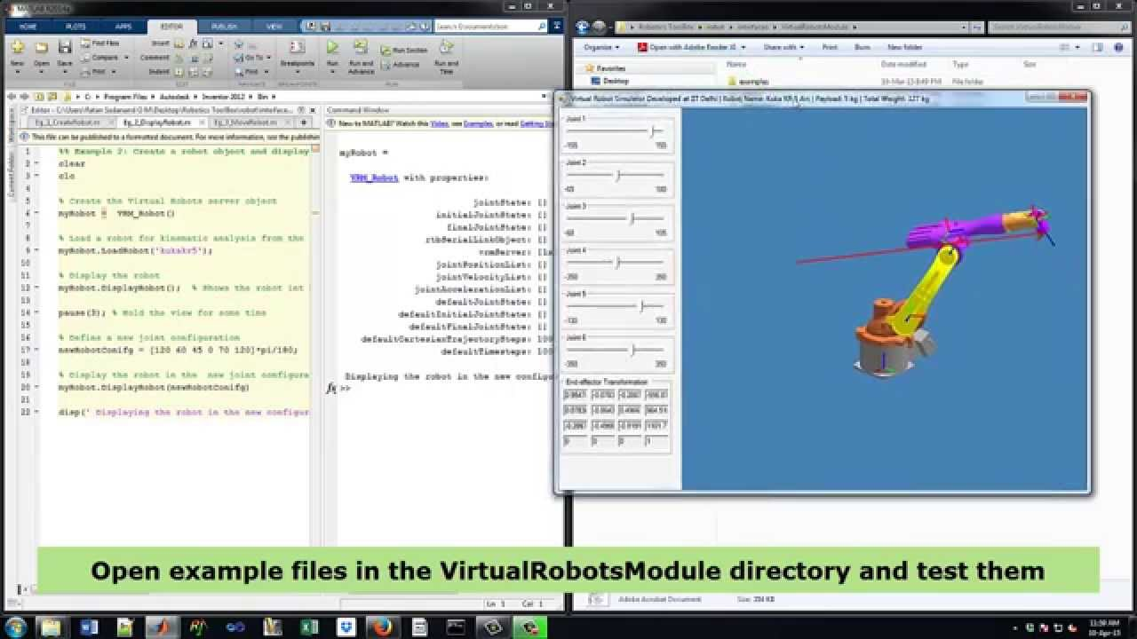 Virtual Robot Module - Robotics Toolbox (MATLAB): Getting Started