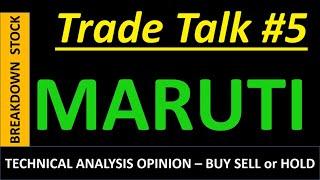 MARUTI  Detailed Technical  Analysis - Buy Sell or HOLD (Hindi)