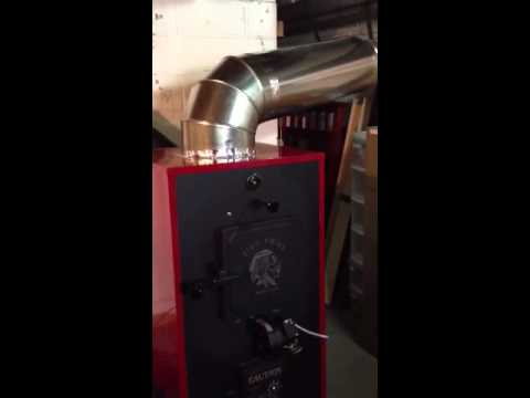 Fire Chief Wood Burning Furnace - YouTube