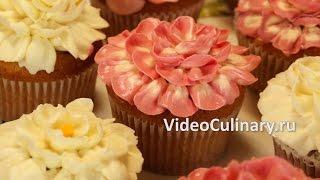 Украшение Капкейков цветами из крема   Рецепт Бабушки Эммы