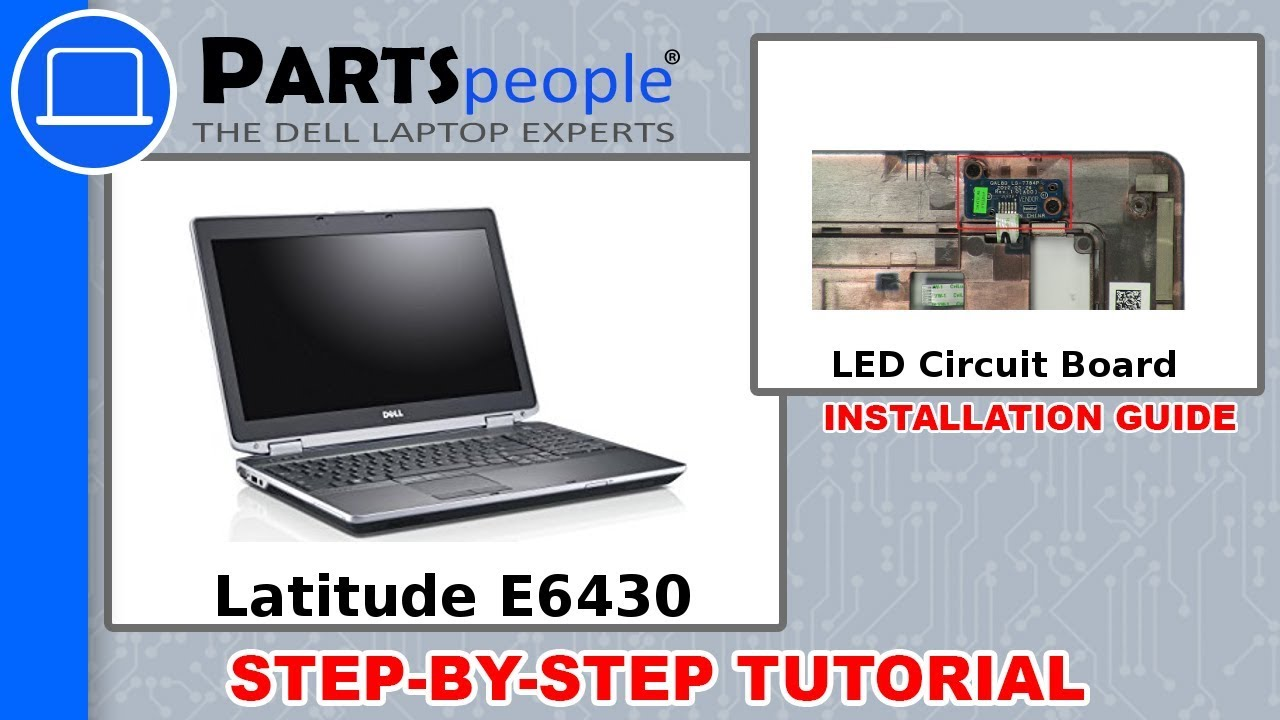 Dell Latitude E6430 (P25G001) LED Circuit Board How-To Video Tutorial