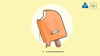 Creamsicle  Vector Illustration - Affinity Designer