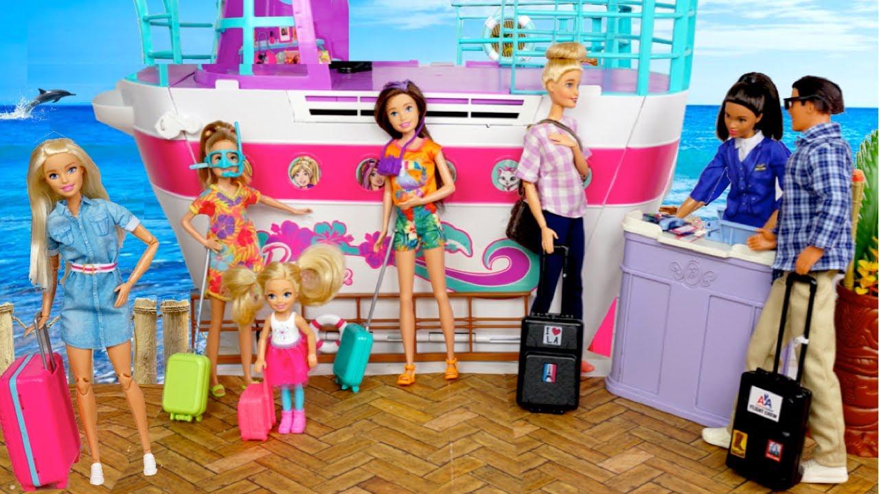 Familia Barbie Vacaciones de Verano en Crucero - Nueva Piscina de Chelsea
