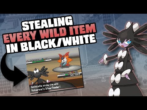 HOW EASILY CAN YOU STEAL EVERY WILD HOLD ITEM IN POKEMON BLACK/WHITE?