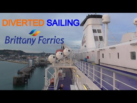 Brittany Ferries - Diverted To Cherbourg - MV Bretagne - Portsmouth To Cherbourg