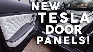 How To Install Tesla Model 3 Door Panel Inserts with CNC Stitched by LeatherSeats Prime