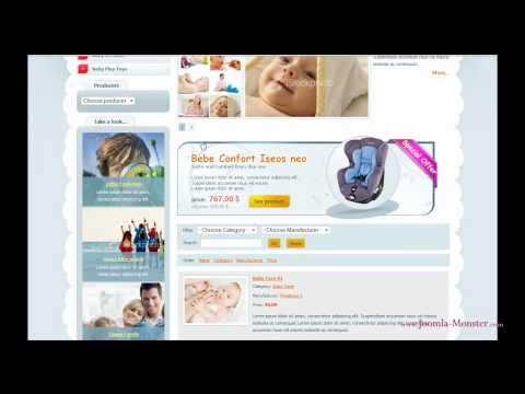 Joomla 1.5 Template: JM Baby Catalog