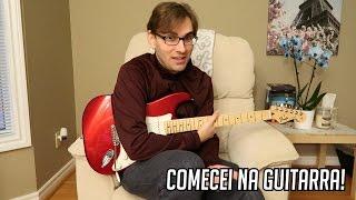 fiz minha primeira aula de guitarra
