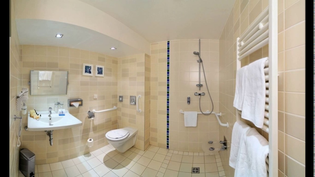 Handicap bathroom layout design - YouTube