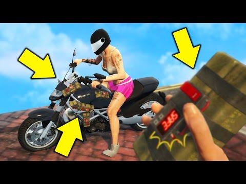 GTA 5 STICKY BOMB TROLLING! TROLLING MY GIRLFRIEND (GTA 5 Online Trolling)
