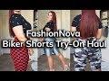 FashionNova Biker Shorts Try-On Haul | Ruby Red