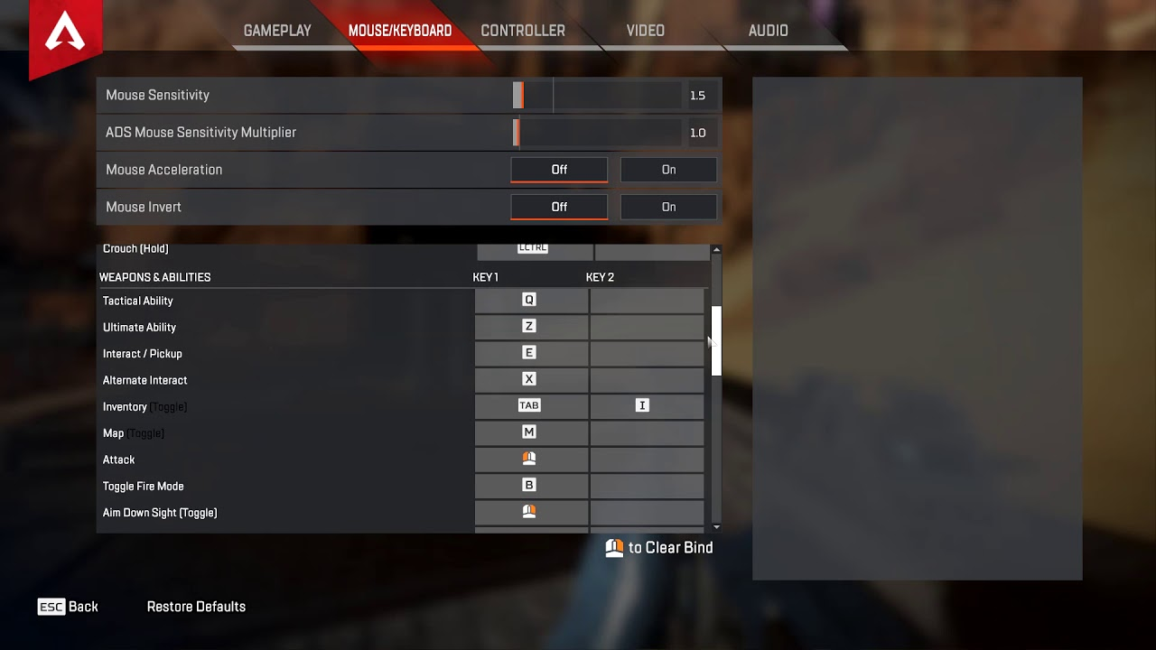 Apex legends - how to change ADS to hold