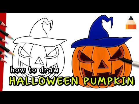 How To Draw Pumpkin Step by Step | Halloween Drawings For Kids - YouTube