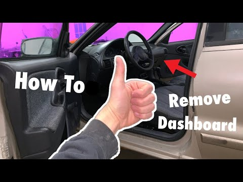 How To Remove Dashboard Of ANY Chevy Cavalier!