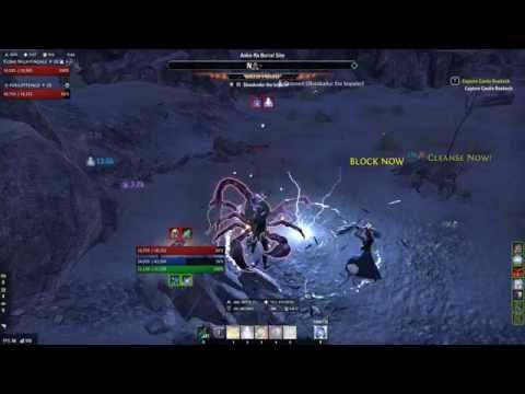 Crystal frag damage test with elemental drain and alkosh