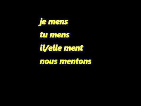 Conjugaison Du Verbe Mentir Menjanje Glagola Mentir Present Youtube